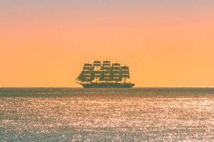Anses d'Arlets : navire cinq-mâts