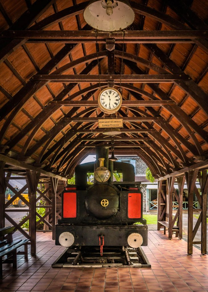 Le petit train de la distillerie Saint-James