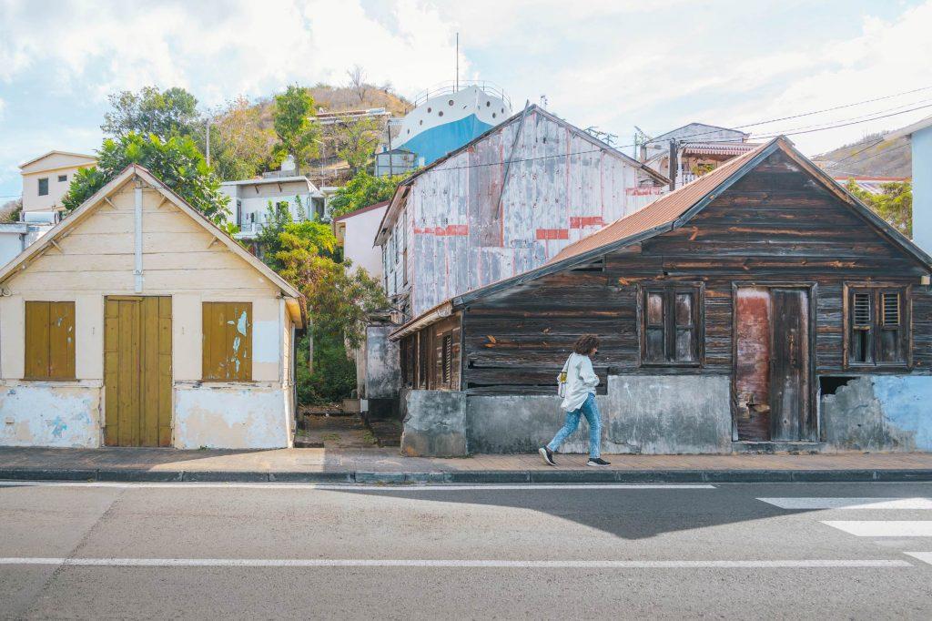 Martinique, Bellefontaine : maisons créoles