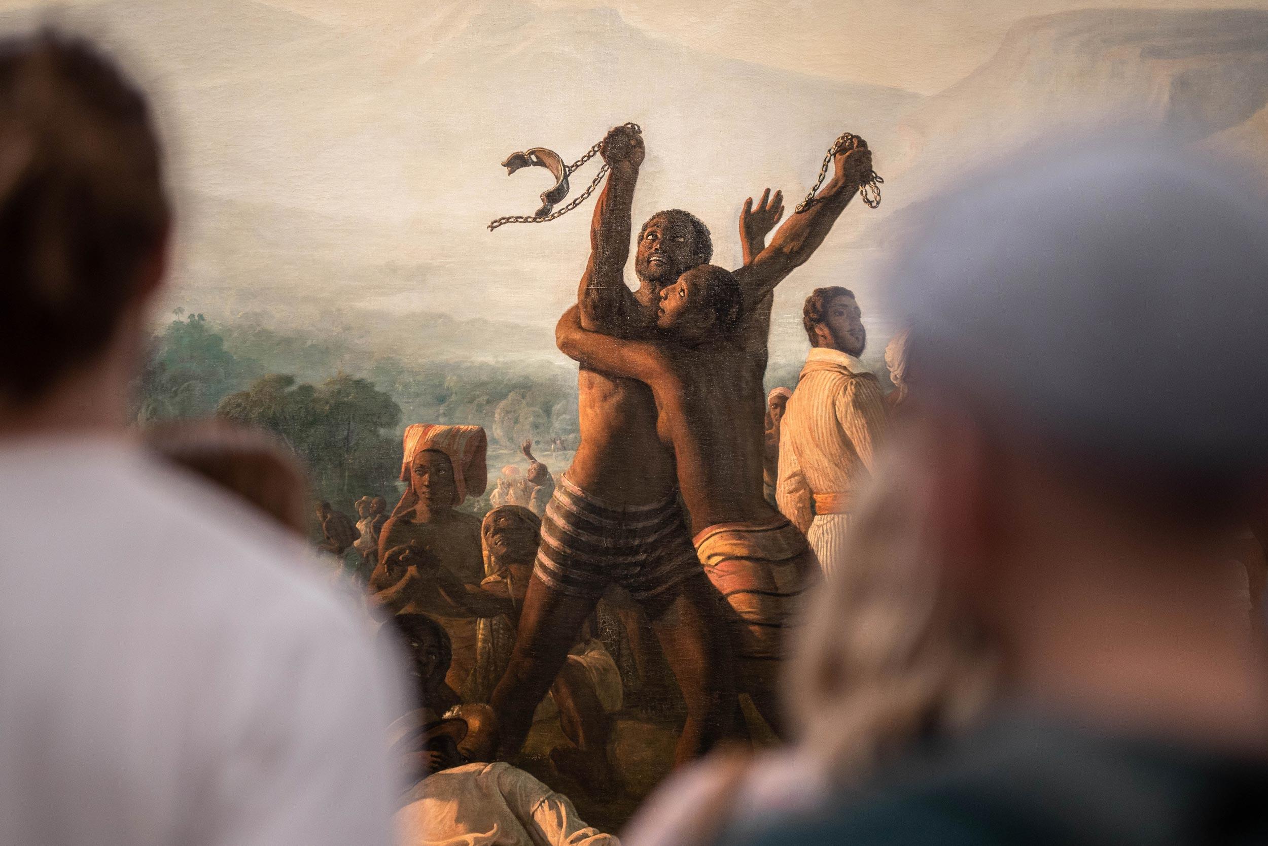 Tableau d'Auguste Biard : L'Abolition de l'esclavage dans les colonies françaises en 1848